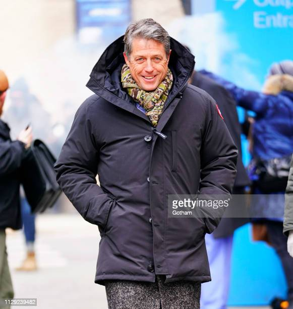 Hugh Grant seen on location for 'The Undoing' on March 8 2019 in New York City