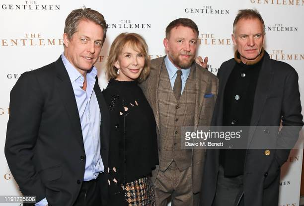 Hugh Grant Trudie Styler Guy Ritchie and Sting attend a special screening of The Gentlemen at The Curzon Mayfair on December 03 2019 in London England