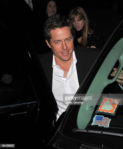 Hugh Grant visits 'Late Show With David Letterman' at the Ed Sullivan Theater on December 14 2009 in New York City