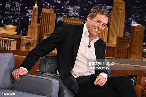 Hugh Grant Visits The Tonight Show Starring Jimmy Fallon at Rockefeller Center on February 11 2015 in New York City