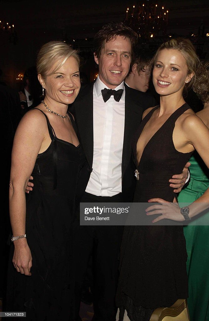 Hugh Grant With Mariella Frosstrup And Laura Bailey, The Evening Standard Film Awards, At The Savoy Hotel In London