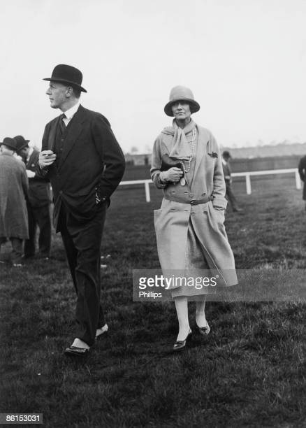Hugh Grosvenor, 2nd Duke of Westminster at Chester Races with French fashion designer Coco Chanel , 1st May 1924.