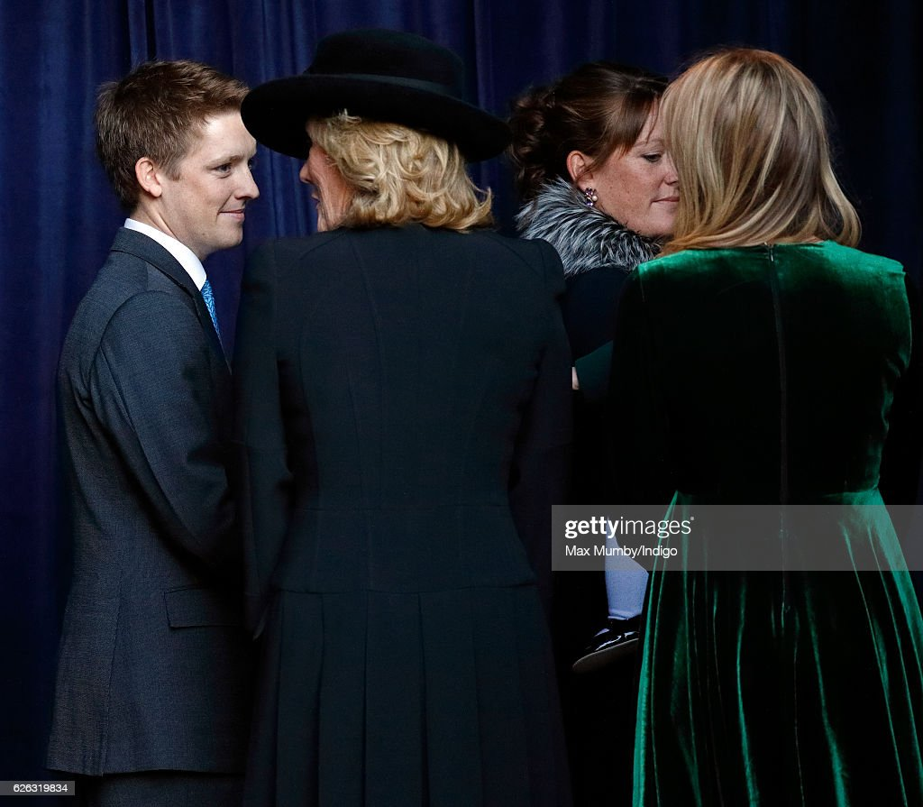 Hugh Grosvenor, 7th Duke of Westminster, Natalia Grosvenor, Duchess of Westminster, Lady Tamara van Cutsem and Lady Viola Grosvenor attend a Memorial Service for Gerald Grosvenor, 6th Duke of Westminster at Chester Cathedral on November 28, 2016 in Chester, England. Gerald Cavendish Grosvenor, 6th Duke of Westminster died aged 64 on August 9, 2016 and is survived by his wife, The Duchess of Westminster, Natalia Grosvenor, daughters Lady Tamara van Cutsem, Lady Edwina Snow and Lady Viola Grosvenor and his 25-year-old son and heir Hugh Grosvenor, 7th Duke of Westminster.