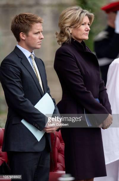 Hugh Grosvenor Duke of Westminster and Natalia Grosvenor Duchess of Westminster attend a Consecration Service at Bramham Park on September 22 2018 in...