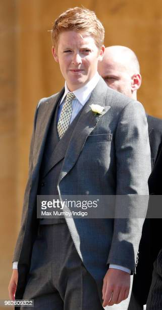 Hugh Grosvenor Duke of Westminster attends the wedding of Prince Harry to Ms Meghan Markle at St George's Chapel Windsor Castle on May 19 2018 in...