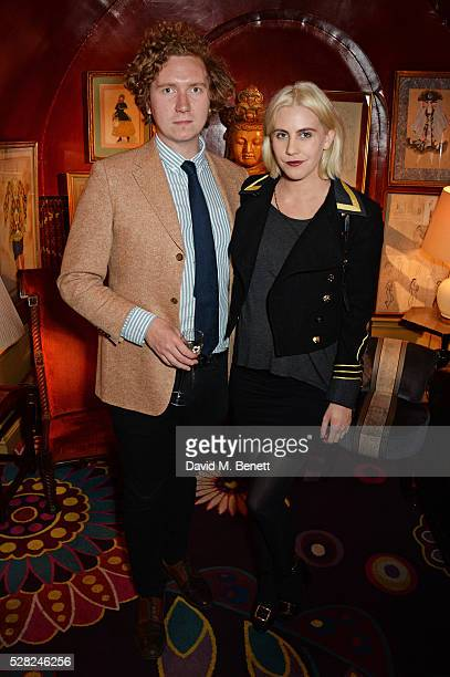 Hugh Harris and India Rose James attend an intimate performance by All Saints at Annabel's on May 4 2016 in London England