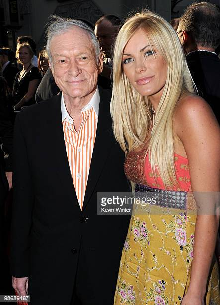 Hugh Hefner and Crystal Harris arrive at the world premiere of Paramount Pictures and Marvel Entertainment's 'Iron Man 2� held at El Capitan Theatre...