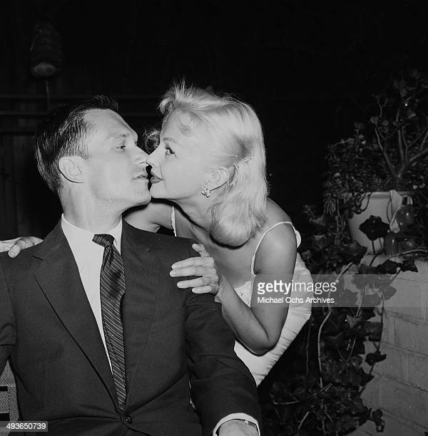 Hugh Hefner and guest at a Play Boy Party in Los Angeles California