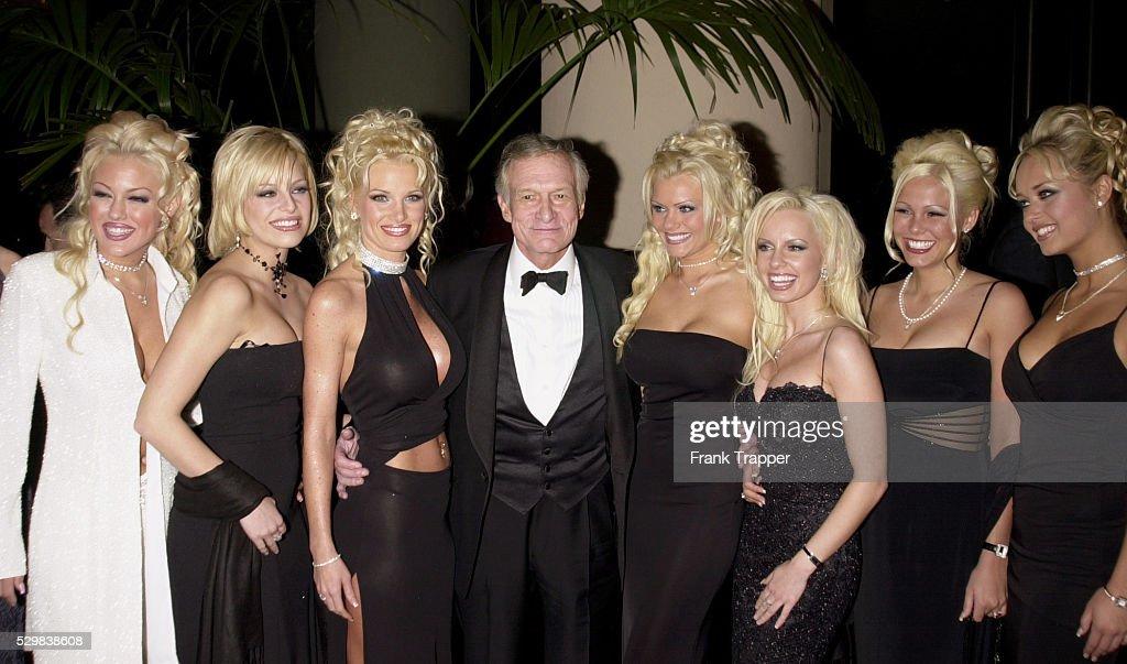 Hugh Hefner with Seven Girlfriends : News Photo