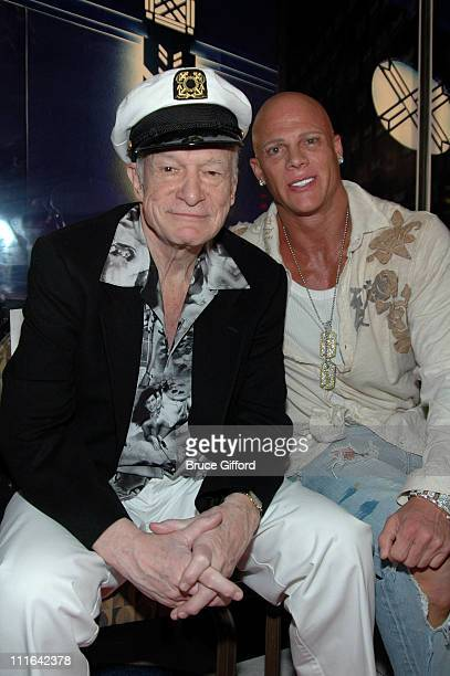 Hugh Hefner and Johnny Brenden during The Girls Next Door to be Honored with a Brenden Celebrity Star at Brenden Theatres Palms Casino Resort in Las...