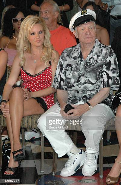 Hugh Hefner and The Girls Next Door during Hugh Hefner Receives a Star at Brenden Theatres September 7 2006 at Palms Casino Resort in Las Vegas...