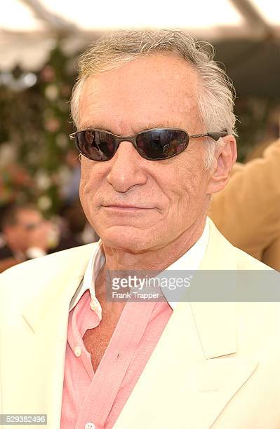 Hugh Hefner at the Playmate of the Year 2004 presentation Carmella DeCesare was named Playboy's Playmate of the Year 2004 at the Playboy Mansion...