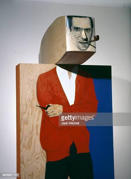Hugh Hefner by Marisol, 1967.
