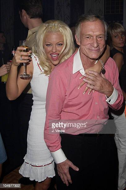 Hugh Hefner during Maxim Hot 100 Party Inside at Yamashiro in Hollywood California United States