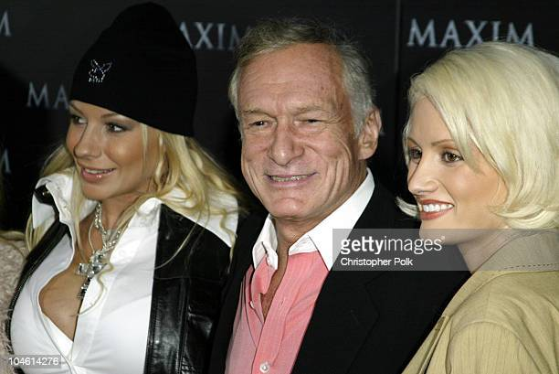 Hugh Hefner during Maxim Magazine Heats Up LA With The Pussycat DollsArrivals at The Henry Fonda Theatre in Hollywood CA United States