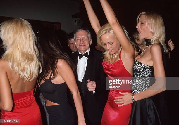 Hugh Hefner during The 71st Annual Academy Awards Elton John AIDS Foundation Party at Pagani's in Los Angeles California United States