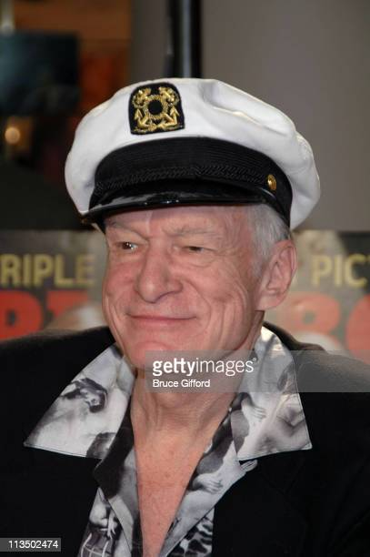 Hugh Hefner during The Girls Next Door Signing Autographs at the Playboy Concept Boutique at the Forum Shops March 24 2007 at Caesars Palace in Las...