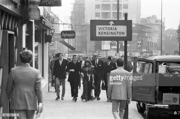 Hugh Hefner holds a press conference at the London Playboy Club to announce the formation of the Playboy film production company Pictured as they...