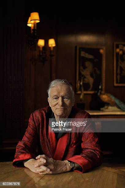 Hugh Hefner is photographed at the iconic Playboy Mansion for Sunday Times on February 20 2011 in Los Angeles California