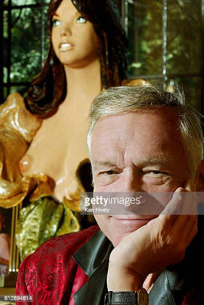 Hugh Hefner is photographed in the Playboy mansion for Los Angeles Times on December 16 2008 in Los Angeles California PUBLISHED IMAGE CREDIT MUST...