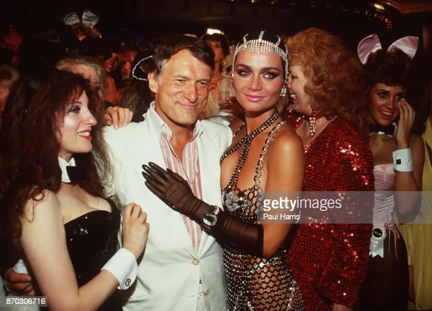Hugh Hefner with Carrie Leigh at the Playboy Mansion Carrie was a 19 year old Canadian living in Toronto when they met in 1983 Having fun at the...