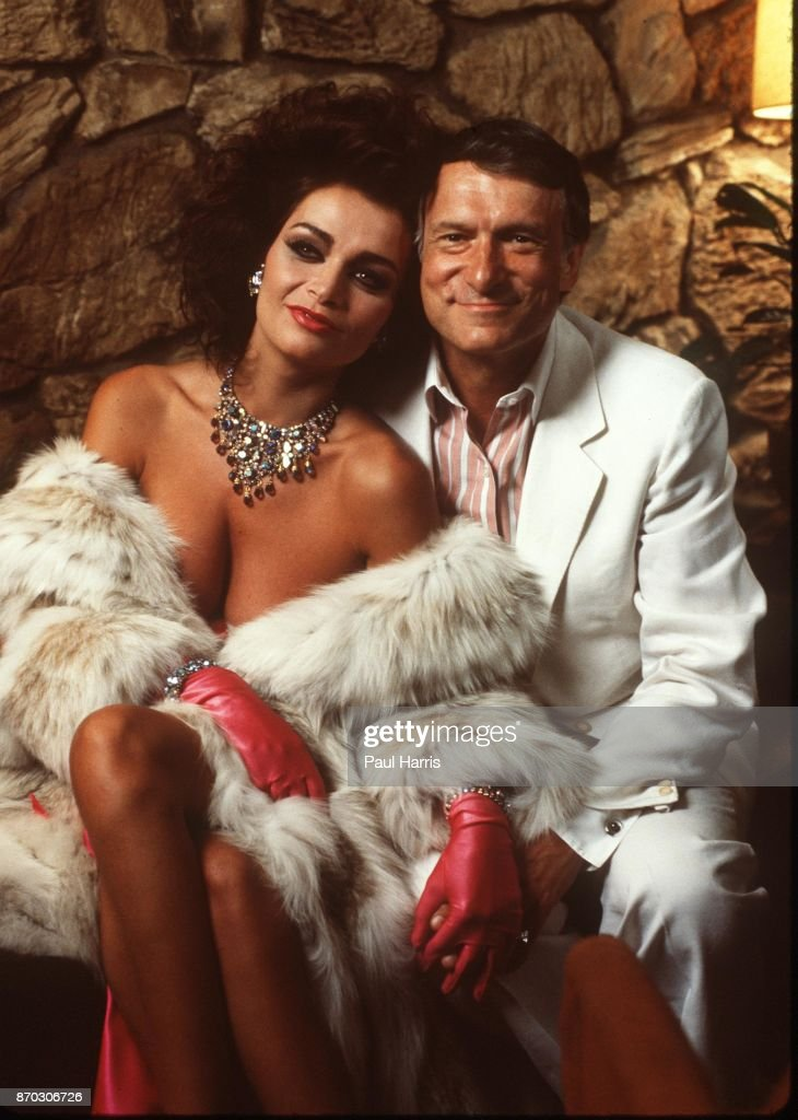 Hugh Hefner With Carrie Leigh At The Playboy Mansion