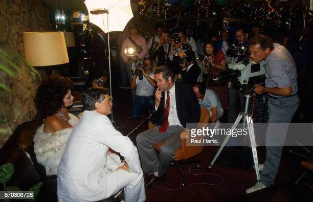 Hugh Hefner with Carrie Leigh interviewed by BBC journalist Martin Bell at the Playboy Mansion Carrie was a 19 year old Canadian living in Toronto...