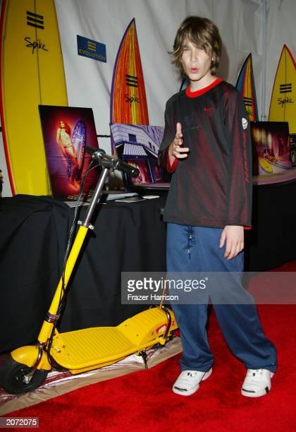 Hugh Hefners' son Marsden Hefner at the Distinctive Assets talent lounge for the launch of Spike TV held at the Playboy Mansion on June 10 2003...