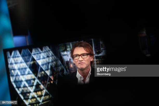 Hugh Hendry founder of Eclectica Asset Management LLP speaks during a Bloomberg Television interview in London UK on Friday Sept 15 2017 Hendry the...