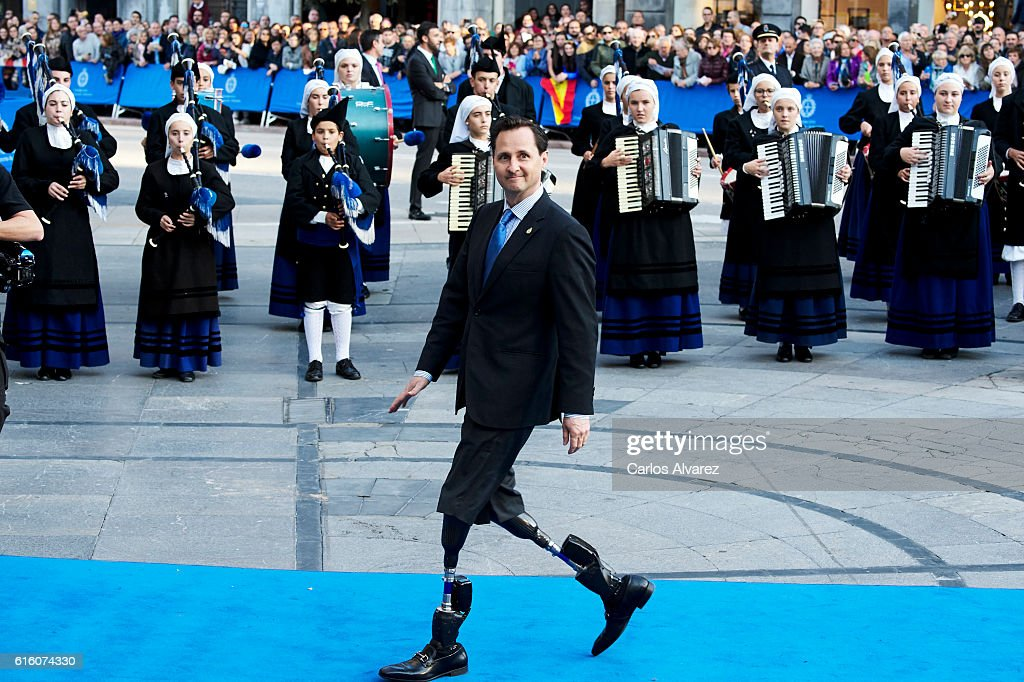 Hugh Herr, Princess of Asturias Awards for Technical & Scientific Research 2016 attend the Princesa de Asturias Awards 2016 ceremony at the Campoamor Theater on October 21, 2016 in Oviedo, Spain.