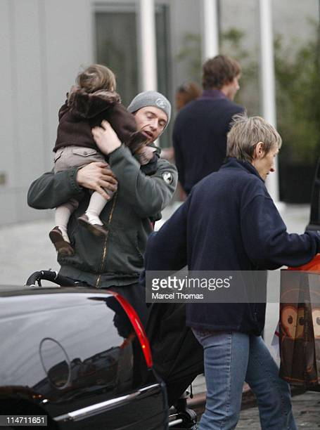 Hugh Jackman and Ava Eliot Jackman during Hugh Jackman Sighting November 18 2006 at Meat Packing District in New York City New York United States