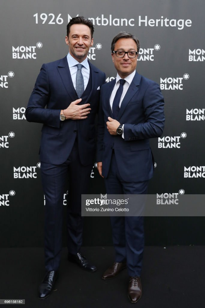 Hugh Jackman and CEO Montblanc International Nicolas Baretzki attend '1926 Montblanc Heritage Launch event' on June 14, 2017 in Florence, Italy.