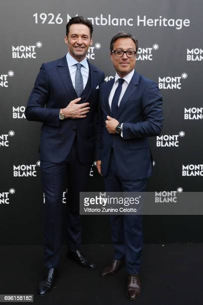 Hugh Jackman and CEO Montblanc International Nicolas Baretzki attend '1926 Montblanc Heritage Launch event' on June 14 2017 in Florence Italy