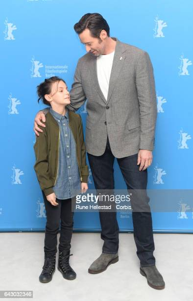 Hugh Jackman and Dafne Keen attend the 'Logan' photo call during the 67th Berlinale International Film Festival Berlin at Grand Hyatt Hotel on...