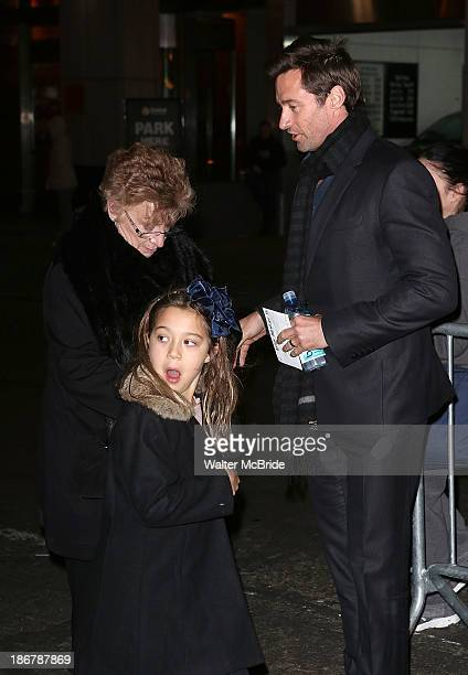 Hugh Jackman and daughter Ava Eliot Jackman attend the After Midnight Broadway Opening Night at the Brooks Atkinson Theatre on November 3 2013 in New...