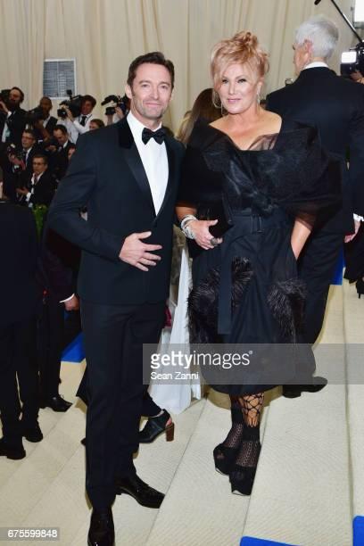 Hugh Jackman and DeborraLee Furness arrive at 'Rei Kawakubo/Comme des Garcons Art Of The InBetween' Costume Institute Gala at The Metropolitan Museum...