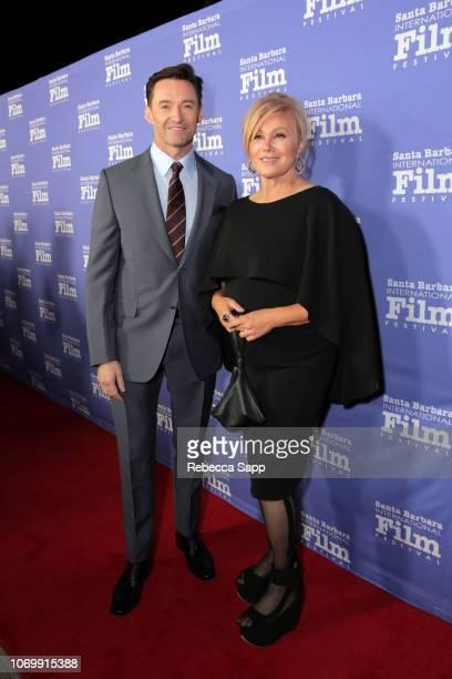 Hugh Jackman and Deborralee Furness attend Santa Barbara International Film Festival's Kirk Douglas Award Honoring Hugh Jackman at The RitzCarlton...