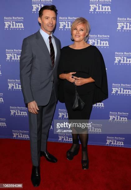 Hugh Jackman and Deborralee Furness attend the 13th Annual Santa Barbara International Film Festival Honors Hugh Jackman With Kirk Douglas Award For...