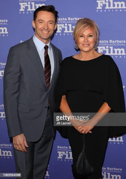 Hugh Jackman and Deborra-lee Furness attend the 13th Annual Santa Barbara International Film Festival Honors Hugh Jackman With Kirk Douglas Award For...