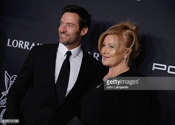 Hugh Jackman and DeborraLee Furness attend the 2016 Angel Ball at Cipriani Wall Street on November 21 2016 in New York City