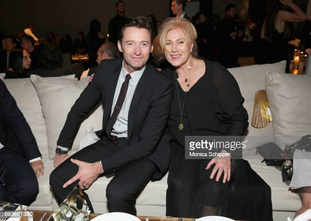 Hugh Jackman and DeborraLee Furness attend the 2017 Stephan Weiss Apple Awards on June 7 2017 in New York City