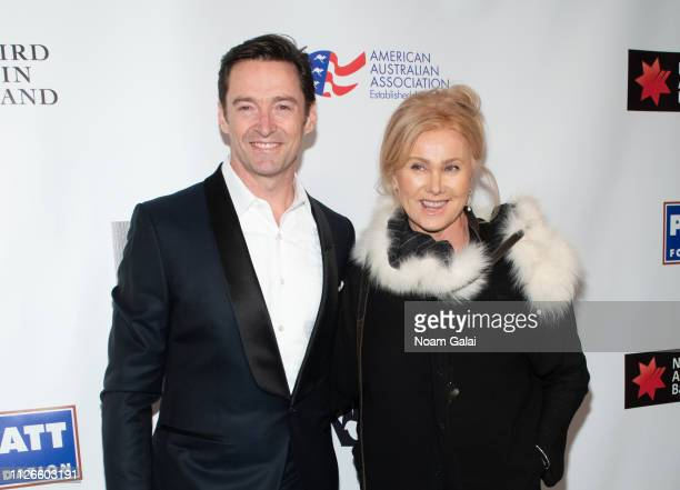 Hugh Jackman and DeborraLee Furness attend the 2019 American Australian Arts Awards at Skylight Modern on January 31 2019 in New York City