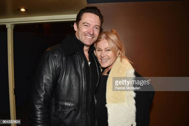 Hugh Jackman and Deborralee Furness attend The Cinema Society Bluemercury host the premiere of IFC Films' Freak Show at Landmark Sunshine Cinema on...