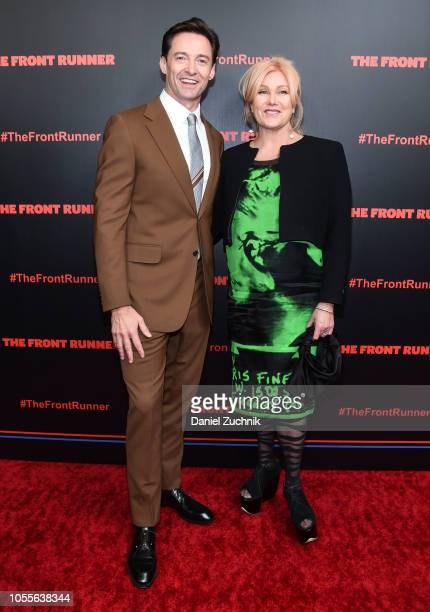 Hugh Jackman and DeborraLee Furness attend 'The Front Runner' New York Premiere at Museum of Modern Art on October 30 2018 in New York City
