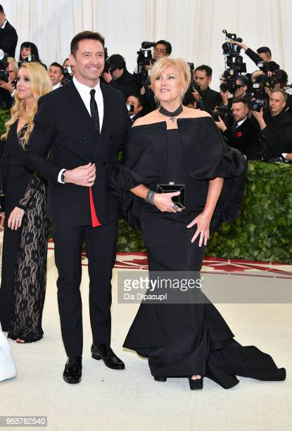 Hugh Jackman and DeborraLee Furness attend the Heavenly Bodies Fashion The Catholic Imagination Costume Institute Gala at The Metropolitan Museum of...