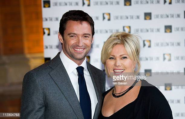 Hugh Jackman and DeborraLee Furness attend the 'Live Below the Line' Charity Benefit at the St Pancras Renaissance Hotel on April 18 2011 in London...