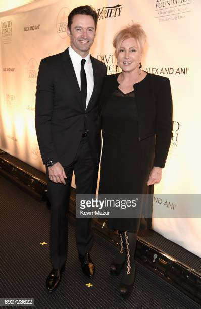 Hugh Jackman and Deborra-Lee Furness attend the National Night Of Laughter And Song event hosted by David Lynch Foundation at the John F. Kennedy...