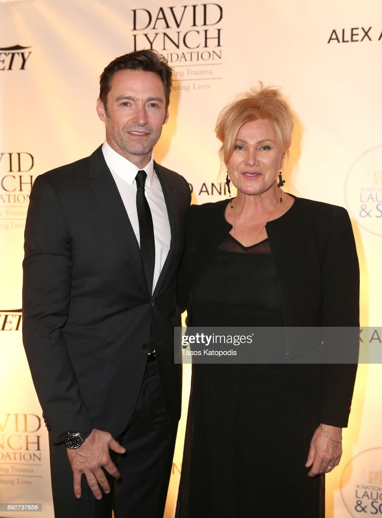 Hugh Jackman (L) and Deborra-Lee Furness attend the National Night Of Laughter And Song event hosted by David Lynch Foundation at the John F. Kennedy Center for the Performing Arts on June 5, 2017 in Washington, DC.