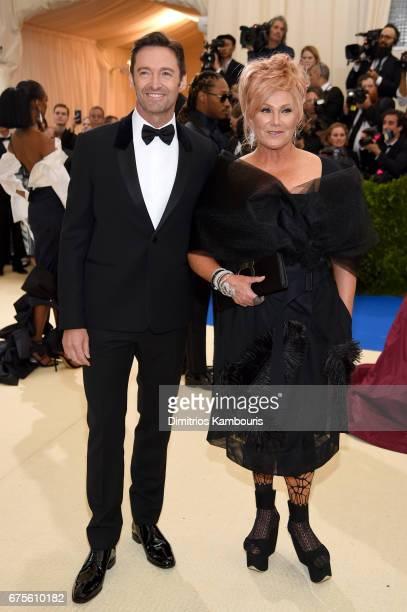 Hugh Jackman and DeborraLee Furness attends the 'Rei Kawakubo/Comme des Garcons Art Of The InBetween' Costume Institute Gala at Metropolitan Museum...