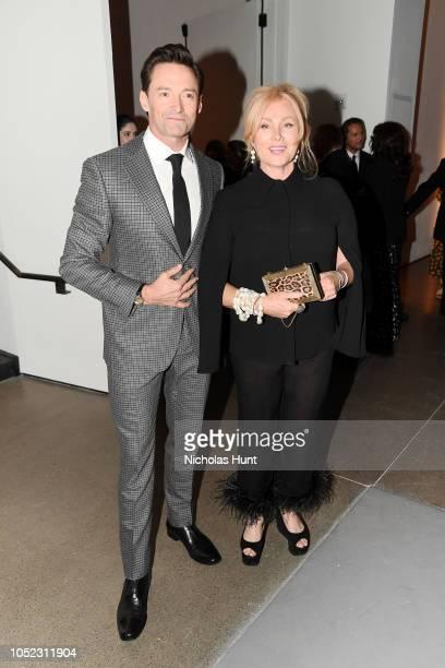 Hugh Jackman and Deborralee Furness attens God's Love We Deliver Golden Heart Awards at Spring Studios on October 16 2018 in New York City